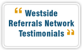 Westside Referrals Network LeTip offers referrals business and referral business in West Los Angeles, Santa Monica and Venice. Business mixer in West Los Angeles, Santa Monica and Venice.